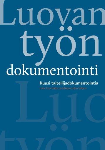 TAKO-raportti Luovan työn dokumentointi