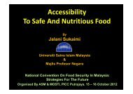 Accessibility To Safe And Nutritious Food - Akademi Sains Malaysia