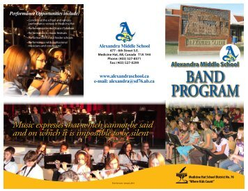 Band Brochure - Alexandra Middle School