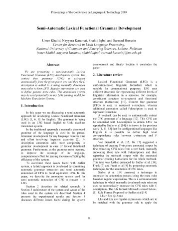 Semi-Automatic Lexical Functional Grammar Development