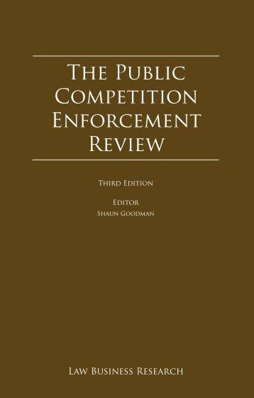 The Public Competition Enforcement Review - Arnold Bloch Leibler