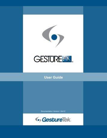GestureFX User Guide - GestureTek