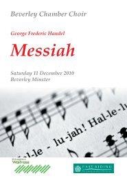 George frederic handel messiah - Beverley Chamber Choir