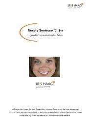 Unsere Seminare für Sie - IRIS HAAG® Training & Beratung GmbH
