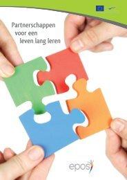 Brochure 'Partnerschappen voor een leven lang leren' - Epos
