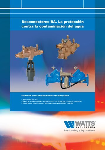 Folleto desconectores - Watts Industries