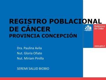 registro poblacional de cáncer - SEREMI de Salud Región del Biobío.