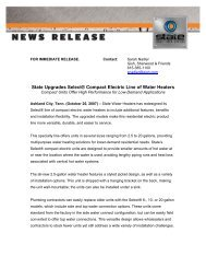 State Upgrades Select® Compact Electric Line of Water Heaters