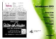 Jahreskonzert 2013 - Musikgesellschaft St. Urban