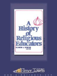 A History of Religious Education - Elmer Towns
