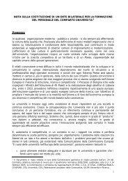 Nota sulla costituzione di un ente bilaterale per la formazione ... - Crui
