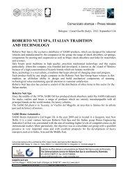 roberto nuti spa, italian tradition and technology - Sabo