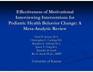 Effectiveness of Motivational Interviewing Interventions for Pediatric ...