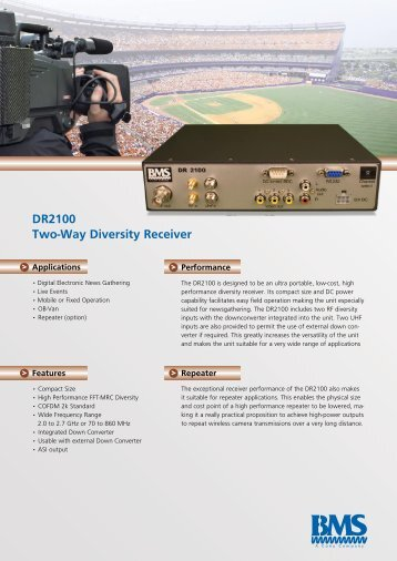 DR2100 Two-Way Diversity Receiver