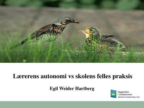 Lærerens autonomi vs skolens felles praksis - Lesesenteret