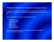 Validation of Coherence Products