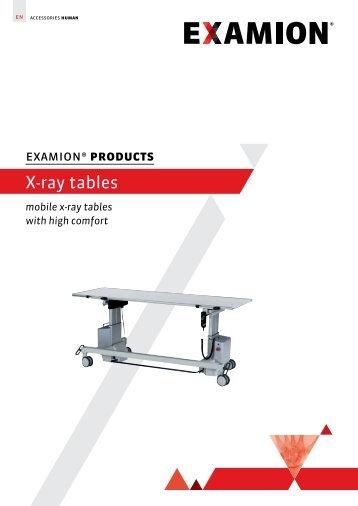 X-ray tables - EXAMION