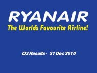 Ryanair Quarter 3 Results 2011