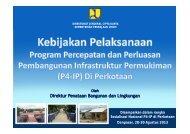 Kebijakan P4IP di Perkotaan oleh Direktur PBL KemenPU ... - P2KP