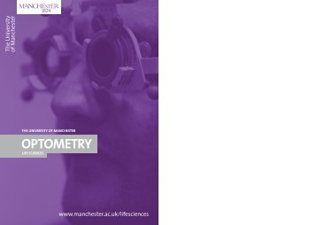 OPTOMETRY - Faculty of Life Sciences - The University of Manchester