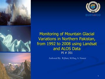 Monitoring of Mountain Glacial Variations in Northern Pakistan, from ...