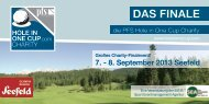 DAS FINALE - hole in one charity