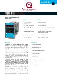 Model 610A Combustible Gas Monitor - Simark Controls