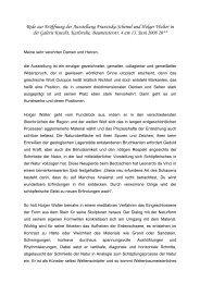 Rede zur Eröffnung der Ausstellung Franziska Schemel ... - Galerie