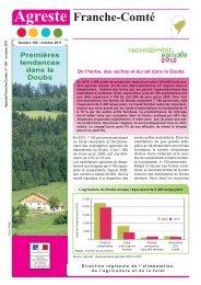 Premières tendances dans le Doubs - Agreste