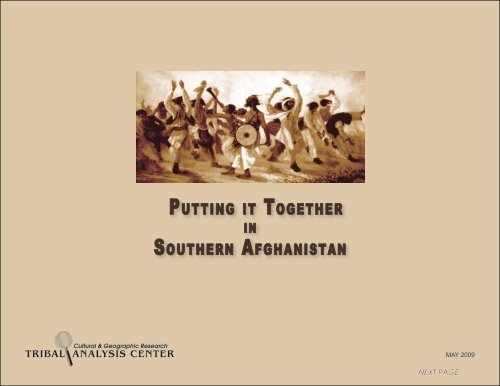 Putting it Together in Southern Afghanistan - Tribal Analysis Center