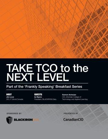 TAKE TCO to the NEXT LEVEL - BLACKIRON Data