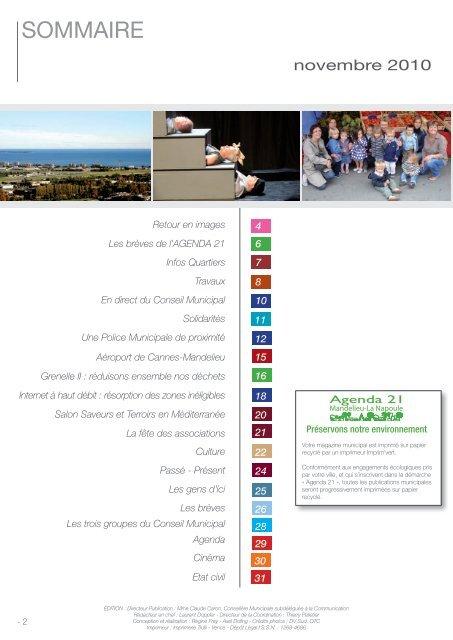 MLN Novembre 2010 - Mandelieu La Napoule