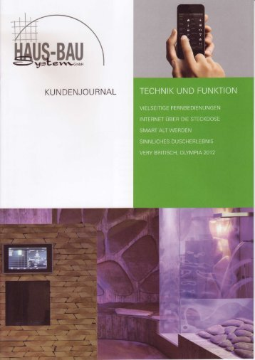Ausgabe 01/2012 - Haus-Bau-System