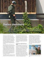 Swiss deminers - Saab