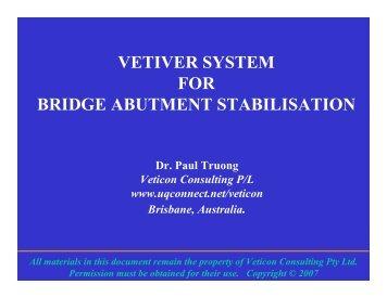 Bridge Abutments stabilized with VS