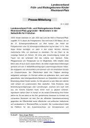 Presseerklärung zur Gründung des Landesverbandes - Früh- und ...