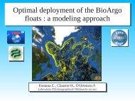 a modeling approach - Euro-Argo