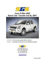 Isuzu D-Max 4WD Space Cab + Double Cab Bj. 2007- - SGS