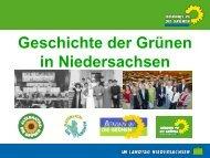 Präsentation: Grüne Geschichte in Niedersachsen - Bündnis 90/Die ...