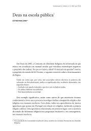 Deus na escola pública1 - Revista Comunicação e Cultura