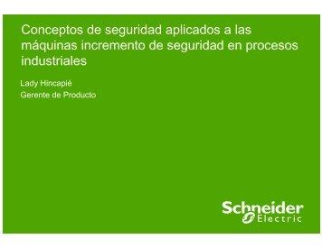 Seguridad Aplicada a las Máquinas - Schneider Electric