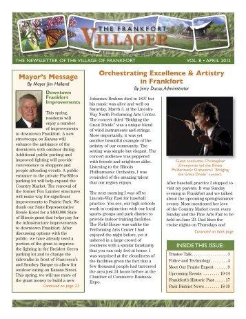 Villager News April 2012 - Village of Frankfort