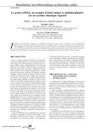 Le projet AMMA, un exemple d'étude intégré et multidisciplinaire sur ...