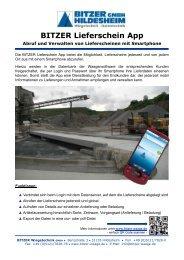 BITZER Lieferschein App - Bitzer Wiegetechnik GmbH