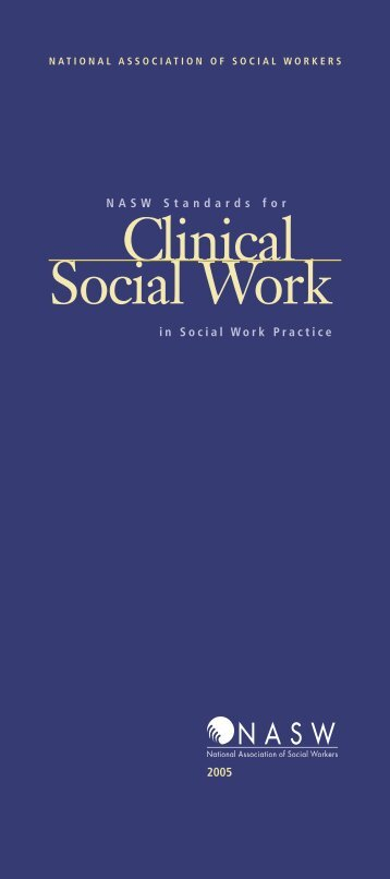 NASW Standards For Clinical Social Work - National Association of ...