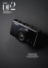 Primero apareció la DP1. La única cámara compacta ... - SIGMA DP