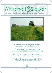 Wirtschaft & Steuern 02-2013 - bbv-Beratungsdienst GmbH