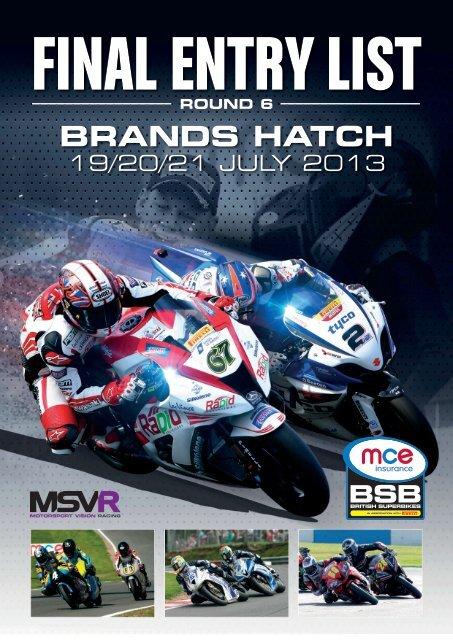 Entries - MotorSport Vision Racing