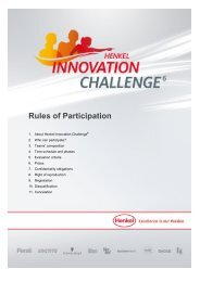 Rules of Participation - Henkel Innovation Challenge