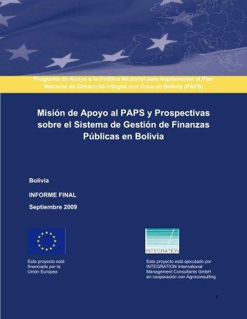 COMISIN EUROPEA - Viceministerio de Coca y Desarrollo Integral